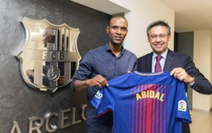 Eric Abidal, a French former professional footballer who played as a left back or centre back.