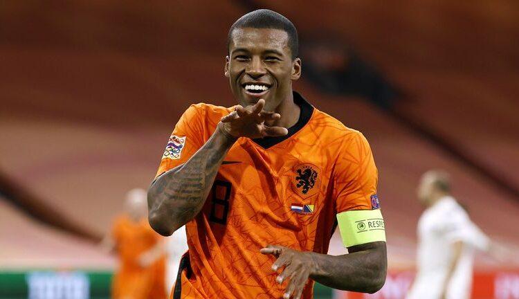 Georginio Wijnaldum (Netherlands), a Dutch professional footballer who plays as a midfielder for Premier League club Liverpool and the Netherlands national team.