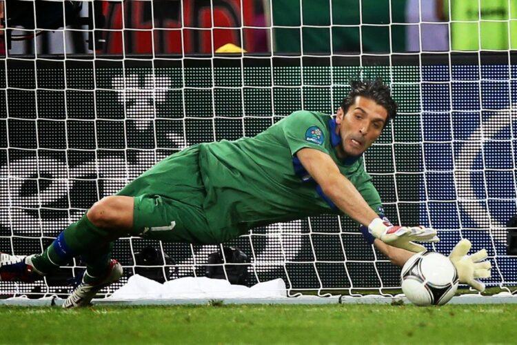 Gianluigi Buffon, an Italian professional footballer who plays as a goalkeeper for Serie A club Juventus.