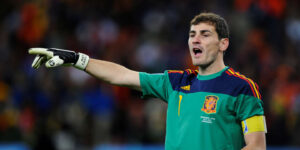 Iker Casillas, a Spanish retired professional footballer who played as a goalkeeper.
