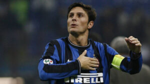 Javier Zanetti, an Argentine former professional footballer who played as a full back or midfielder.