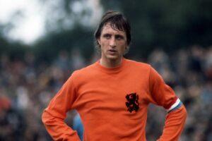 Johann Cruyff, a Dutch professional football player and coach.
