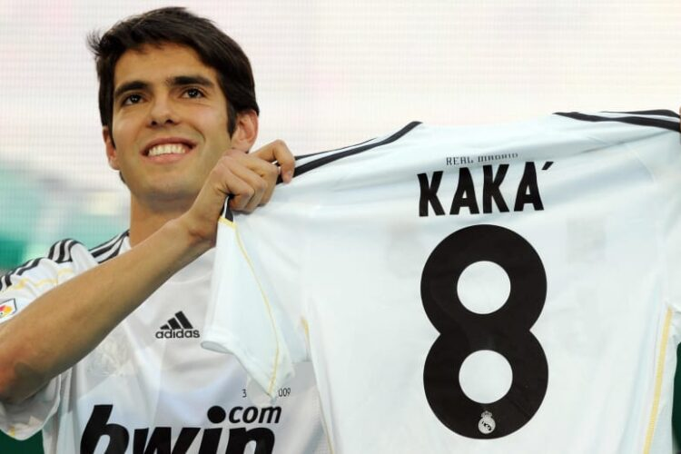 Kaka, a Brazilian retired professional footballer who played as an attacking midfielder.