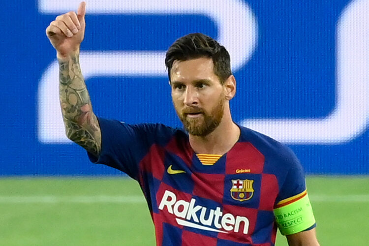 Lionel Messi, an Argentine professional footballer who plays as a forward and captains both Spanish club Barcelona and the Argentina national team.