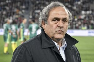 Michael Platini, a French former football player, manager and administrator.