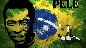 Pele, a Brazilian former professional footballer who played as a forward.