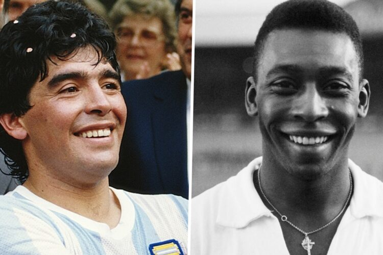 Pele was born and casted as a natural scorer while Maradona showed marvelous dribbles
