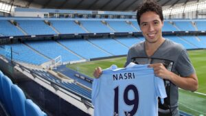 Samir Nasri, a French professional footballer who is currently a free agent, having most recently played for Belgian club Anderlecht