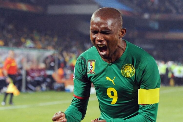 Samuel Eto'o, a Cameroonian retired professional footballer who played as a striker.