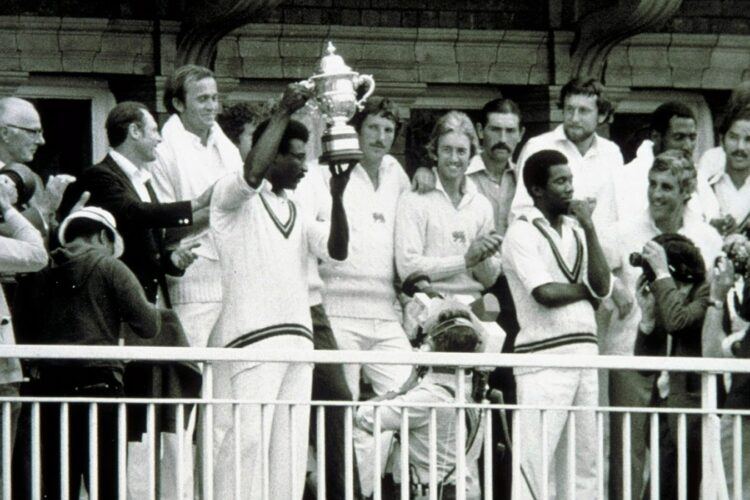 The first Cricket World Cup was played in 1975 in England.