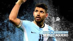 Sergio-Kun-Aguero, an Argentine professional footballer who plays as a striker for Premier League club Manchester City and the Argentina national team.