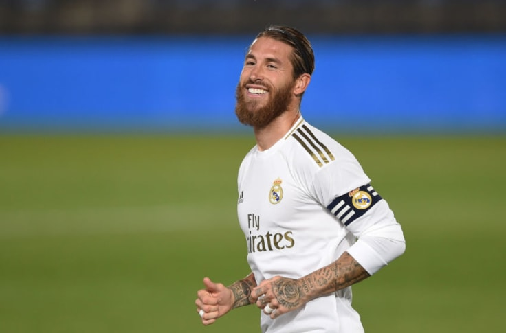 Sergio Ramos, a Spanish professional footballer who plays as a centre-back for La Liga club Real Madrid,
