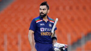 Virat Kohli, an Indian cricketer and the current captain of the India national team.