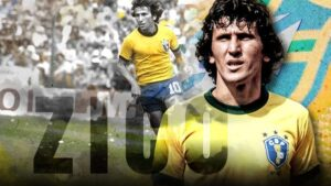 Zico, a Brazilian coach and former footballer who played as an attacking midfielder.