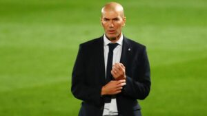 Zinedine Zidane, a French former professional football player who played as an attacking midfielder.