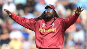 Chris Gayle, plays international cricket for the West Indies.