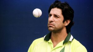 Wasim Akram, a Pakistani cricket commentator, coach, and former cricketer and captain of the Pakistan national cricket team.